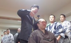 令和元年5月場所千秋楽打ち上げ 駿馬断髪式